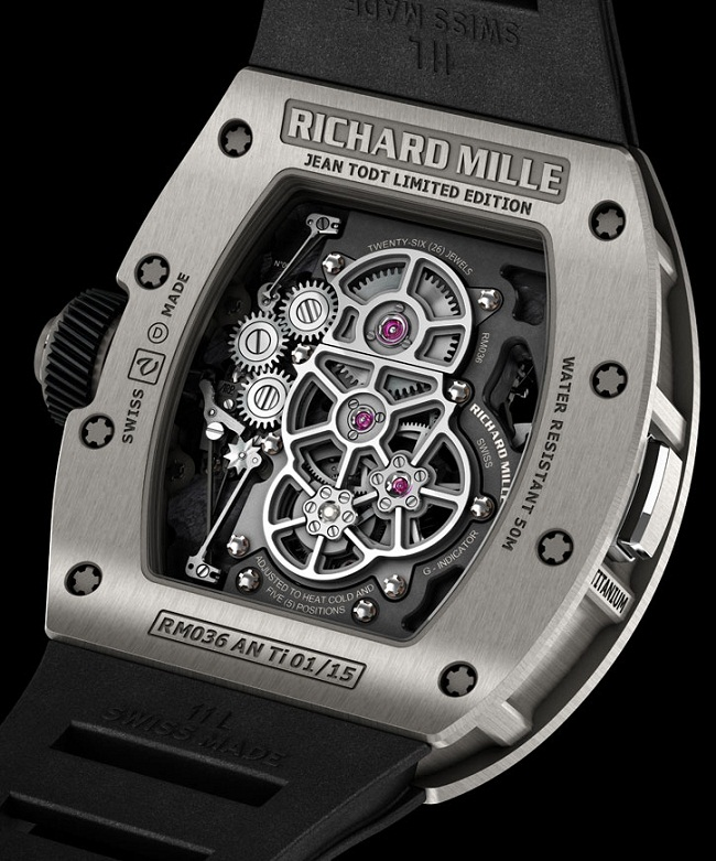 Часы Richard Mille Tourbillon G-Sensor RM 036 Jean Todt Limited Edition задняя крышка