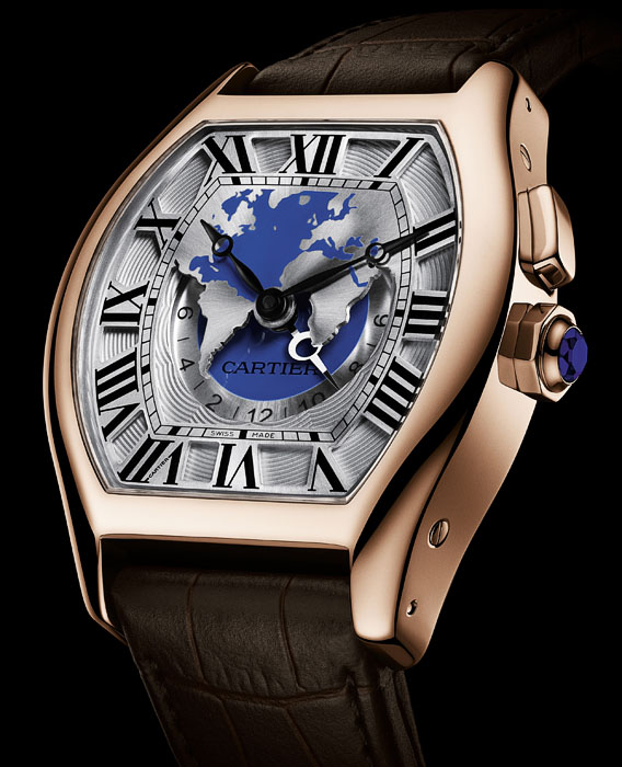 Часы Cartier Tortue Multiple Time Zone розовое золото