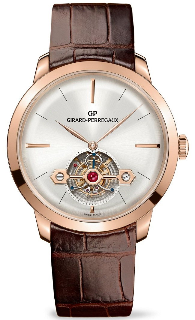 Эксклюзивные часы Girard-Perregaux 1966 Tourbillon Gold Bridge Ref. 99535-52-131-BKBA