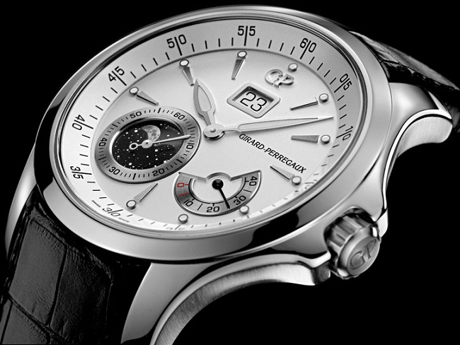 Girard-Perregaux Traveller Moon Phases and Large Date 49650-11-131-BB6A case
