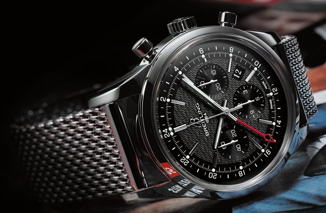 Breitling Transocean Chronograph GMT steel photo