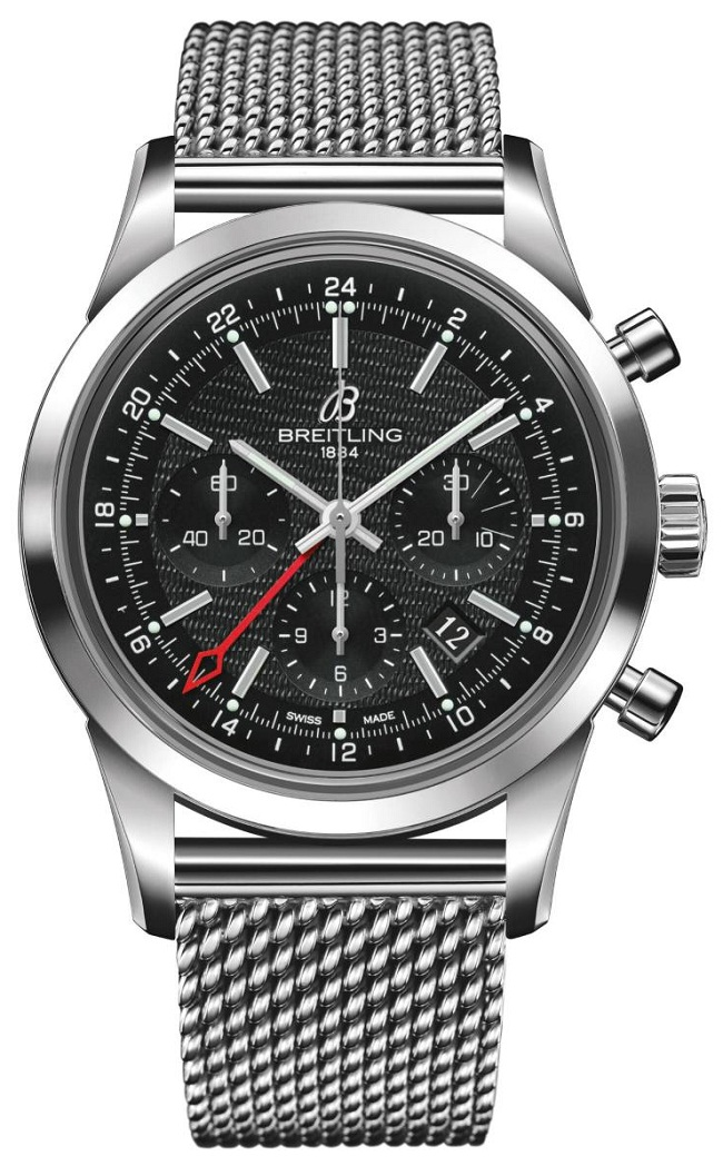 Breitling Transocean Chronograph GMT steel