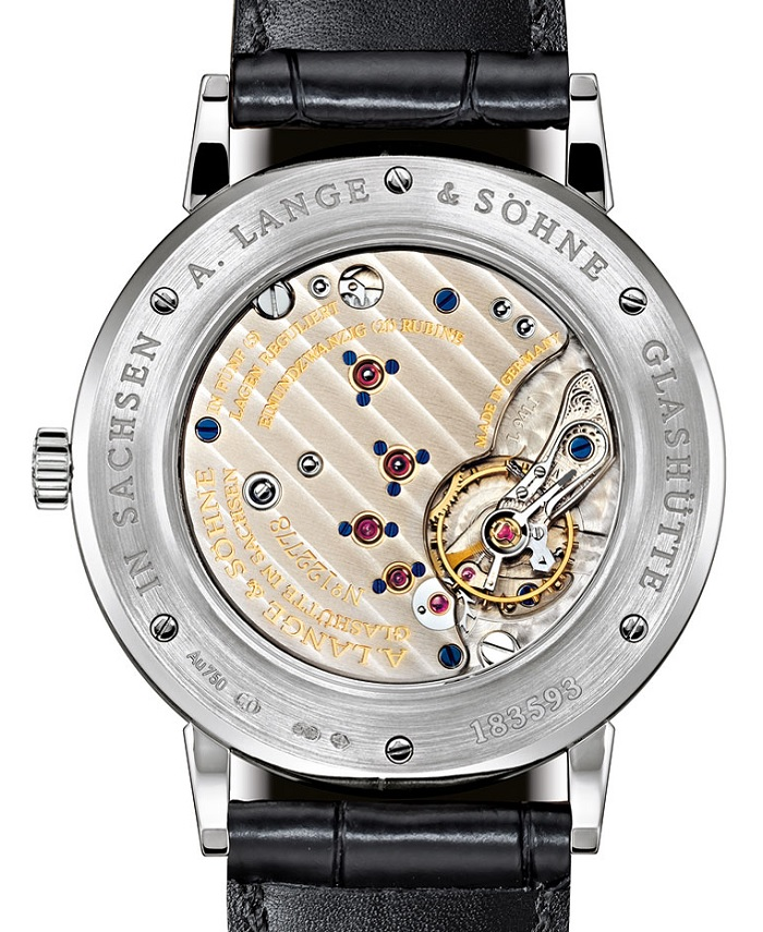 A. Lange & Sohne Saxonia Boutique Edition 216.027 back