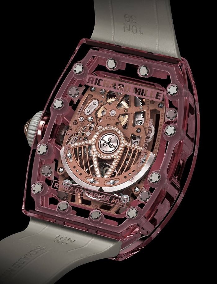 Richard Mille RM07-02 Pink Lady Sapphire Automatic back