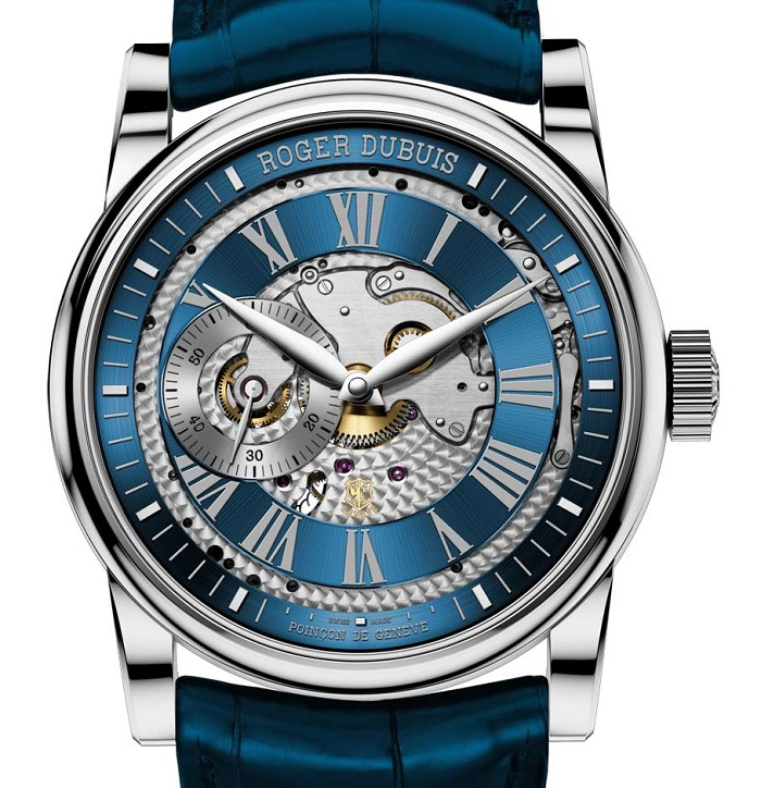 Roger Dubuis Hommage Open Dial blue front