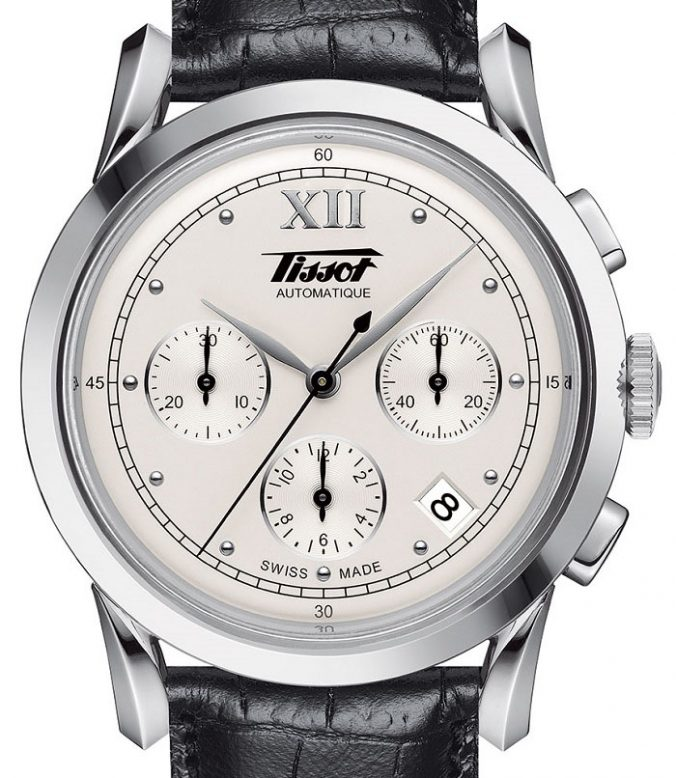 Tissot Heritage 1948 Chronograph black leather