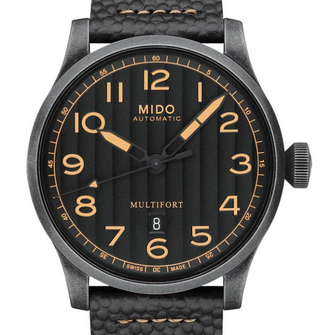 Mido Multifort Escape Horween Special Edition M032.607.36.050.99 dial-min