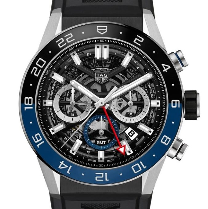 TAG Heuer Carrera Chronograph GMT CBG2A1Z.FT6157 front-min